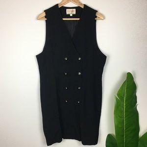 Vintage Sleeveless Blazer Dress